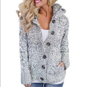 Jackets & Blazers - Womens Hooded Fleece Sweater Coats w zip & pocket